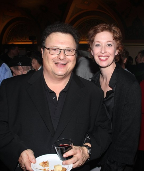 Wayne Knight and Mylinda Hull at ENCORES! 'Girl Crazy'  Closing After Party