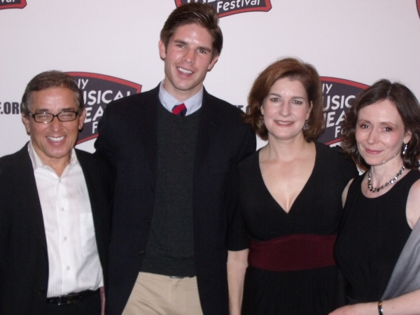 NY1 On Stage Honorees Patrick Pacheco, Frank DiLella, Roma Torre and Donna Karger at 2009 NYMF Season Awards Festival Gala!
