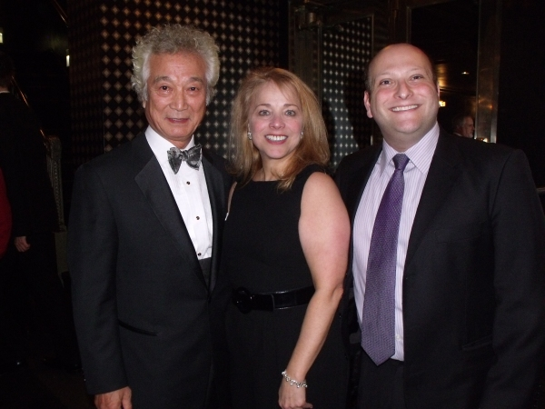 Shin Sung Yill, Sharon Fallon and Isaac Robert Hurwitz