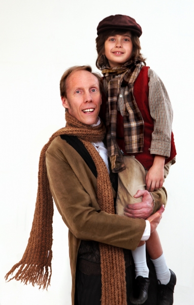 Ken Ammerman and Adam Juraga at CHRISTMAS CAROL And THE CHRISTMAS CAROL CONSPIRACY Open at The Actor's Net Tonight, 12/4