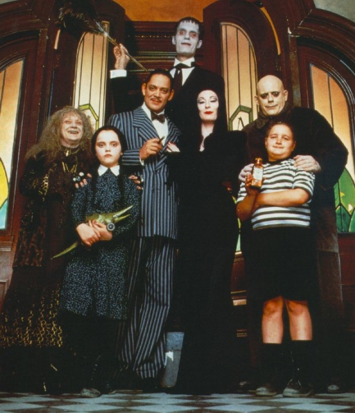 Raul Julia, Anjelica Huston, Christopher Lloyd, Christina Ricci, Dan Hedaya, Elizabeth Wilson, Jimmy Workman, Carel Struycken and Judith Malina at Photo Flashback: 'THE ADDAMS FAMILY' Through the Years