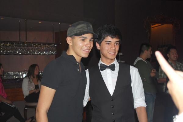 Anthony Lee Medina with a fan