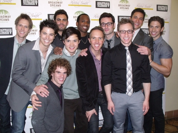 Nick Adams, Matt Risch, Max Von Essen, Michael Mahany, Will Taylor, Dashaun Young, Jay Armstrong Johnson, Jeffrey Omura, Paul Canaan and Nicholas Rodriguez at BROADWAY DREAMS FOUNDATION Holiday Benefit