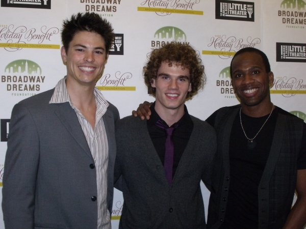 Michael Mahany, Jay Armstrong Johnson and Dashaun Young  at BROADWAY DREAMS FOUNDATION Holiday Benefit