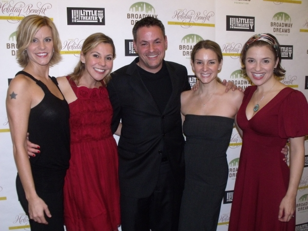 Jenn Colella, Amanda Watkins, Adam Guetell, Jess Bogart and Jenn Gambatese  at BROADWAY DREAMS FOUNDATION Holiday Benefit