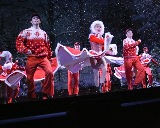Joseph Medeiros, Kelly Sheehan and the ensemble soar! at Happy Holiday! IRVING BERLIN'S WHITE CHRISTMAS Opens!
