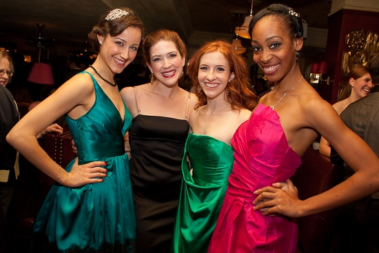 Beth Johnson Nicely, Leah Horowitz, Abby Church and Kristyn Pope. at Happy Holiday! IRVING BERLIN'S WHITE CHRISTMAS Opens!