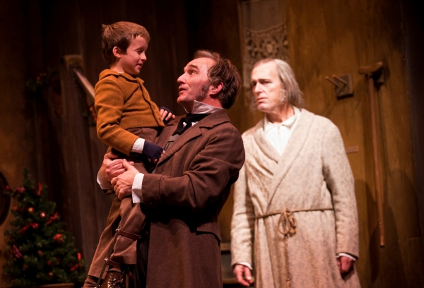 John Babbo, Ron Rains and Larry Yando at Goodman Theatre's A CHRISTMAS CAROL