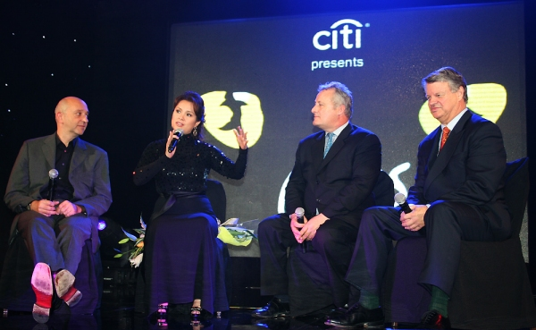 Fiz Shapur, Lea Salonga, James Cundall and Tim McFarlane