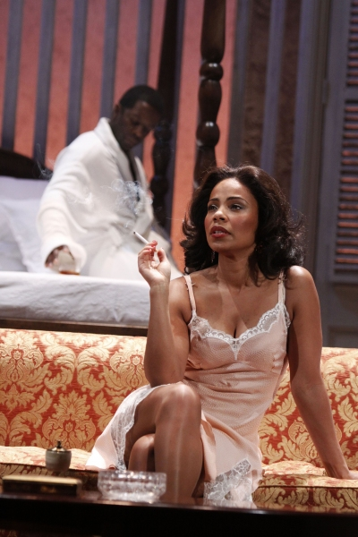 Adrian Lester and Sanaa Lathan at The Cast of CAT ON A HOT TIN ROOF at the Novello Theatre