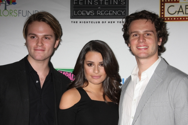 Van Hansis, Lea Michele and Jonathan Groff