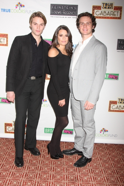 Van Hansis, Lea Michele, and Jonathan Groff Photo