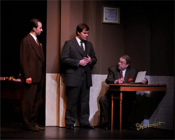 David Maga, Ricky Hesson and Doug Saffell  at Wayside Theatre's MIRACLE ON 34th STREET