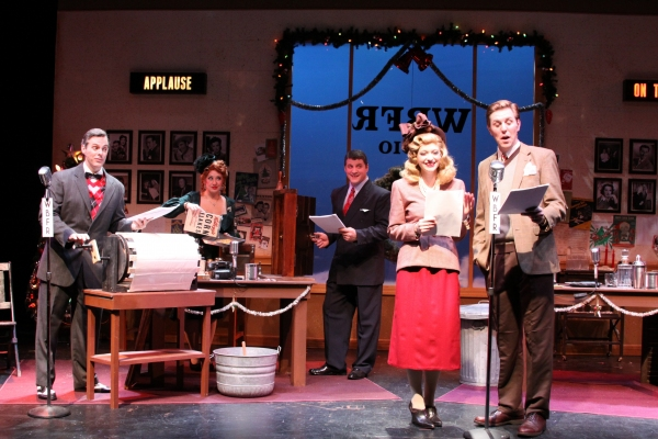 Matthew Daly, Maria Vee, Robert Watts, Tess Brown, Jimmy Johansmeye at IT'S A WONDERFUL LIFE at Downtown Cabaret
