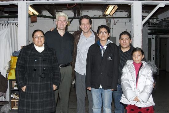 The Hernandez family and Michael Garvey and  Robert Maffia Photo