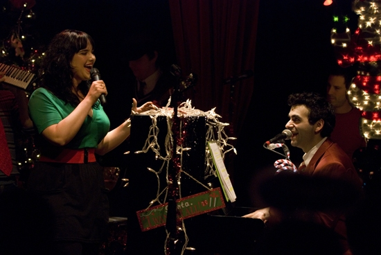 Molly Hager and Joe Iconis at The Joe Iconis Christmas Spectacular!