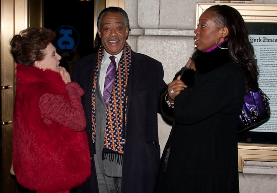 Cindy Adams, Al Sharpton, and Dominique Sharpton