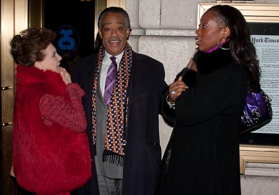 Cindy Adams, Al Sharpton, and Dominique Sharpton