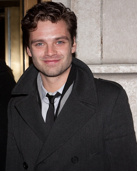 Sebastian Stan at Opening Night of RACE on Broadway- Starry Red Carpet Arrivals