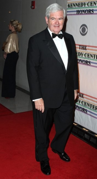 Newt Gingrich at 2009 Kennedy Center Honors: The Men