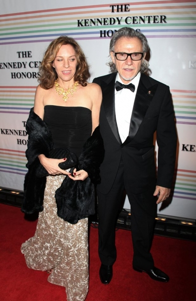 Harvey Keitel & wife