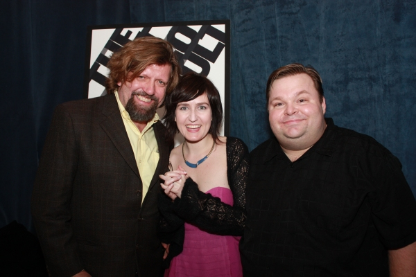 Oskar Eustis, Jean-Michele Gregory and Mike Daisey