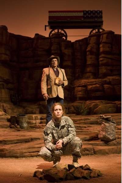 Kristen Potter and Russell Means Photo
