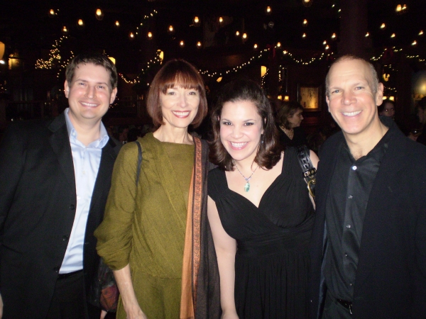 Michael Borth, Karen Akers, Lindsay Mendez, and Charles Fox