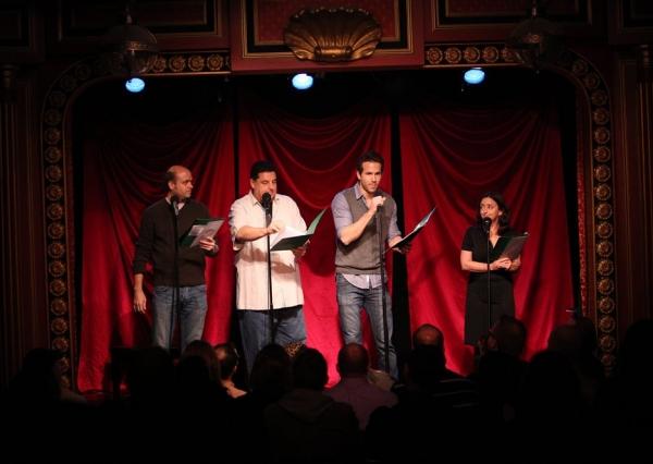 Scott Adsit, Steve Schirripa, Ryan Reynolds & Rachel Dratch at Celebrity Autobio: In Their Own Words at the Triad