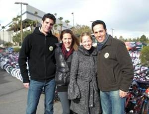 Peter Saide and Jeff Leibow of JERSEY BOYS with Courtney Combs and Kristen Hertzenber Photo