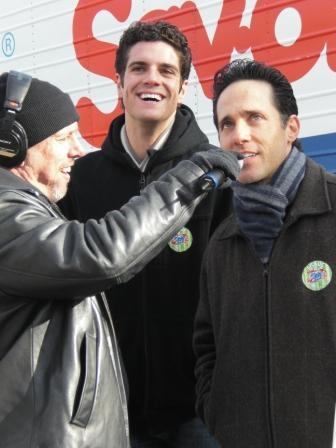 Spence of the Morning Zoo with Peter Saide and Jeff Leibow of JERSEY BOYS  Photo