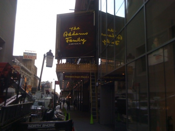 Photo Flash: THE ADDAMS FAMILY Marquee Revealed! Tickets on Sale 12/14