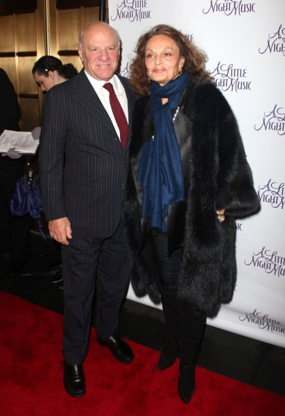 Barry Diller & Diane Von Furstenberg at A LITTLE NIGHT MUSIC Opening Night - Arrivals!