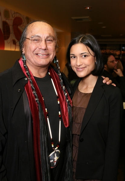 Russell Means and Julia Jones Photo