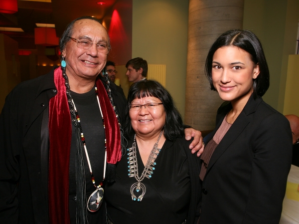 Russell Means, Geraldine Keams and Julia Jones at PALESTINE, NEW MEXICO Opens at Mark Taper Forum