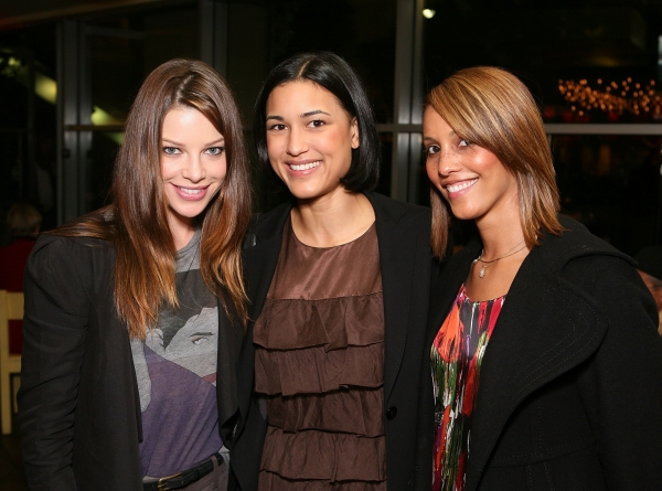 Lauren German, Julia Jones, and Everly Lee at PALESTINE, NEW MEXICO Opens at Mark Taper Forum