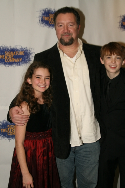Mike Boland, Emily Robinson, & Dylan Riley Snyder at THE ORPHANS' HOME CYCLE PART 2 Cast Meets the Press!