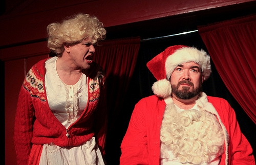 Ed Jones and Michael Hampton at Hell in a Handbag Productions Presents RUDOLPH THE RED-HOSED REINDEER