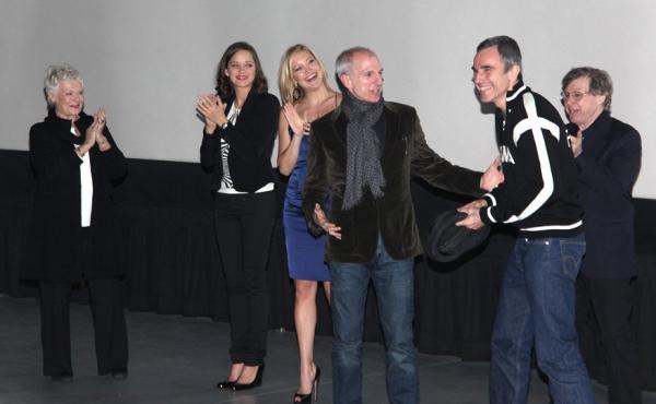 Dame Judi Dench, Marion Cotillard, Kate Hudson, Daniel Day-Lewis, producer/choreographer John DeLuca, and composer Maury Yeston
