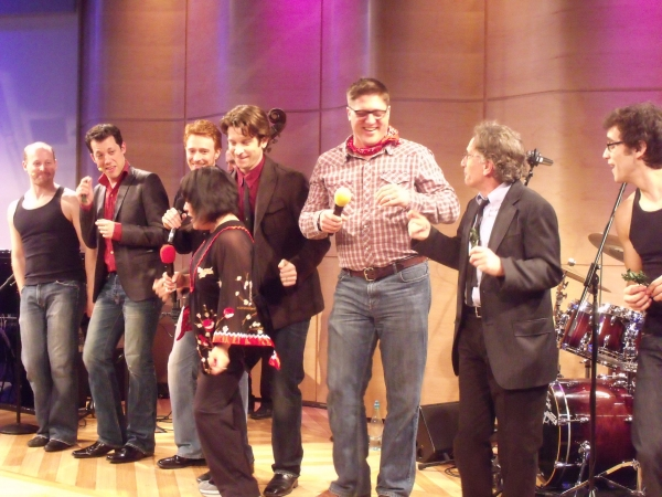 Jeremy Davis, John Tartaglia, Paul Castree, Ann Harada, Andy Karl, Christopher Sieber, Chip Zien and Michael Mindlin