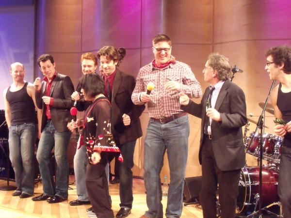 Jeremy Davis, John Tartaglia, Paul Castree, Ann Harada, Andy Karl, Christopher Sieber, Chip Zien and Michael Mindlin