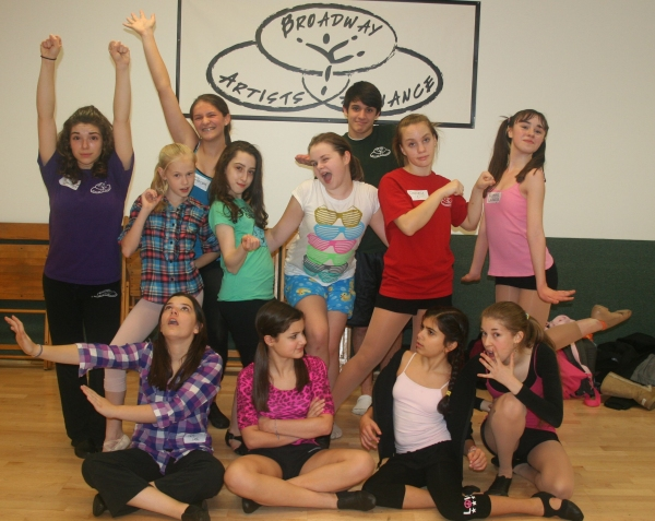 Photo Flash: BILLY ELLIOT's Kjellman, Rakos, Galembo, and Yarosh Visit With The Students of Broadway Artists Alliance