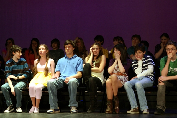 Zach Landes, Michaela Bryce, Connor Antico, Jolie Denburg, Leslie Bernero, Taylor Rosenberger and Shaw Schiappacasse at
