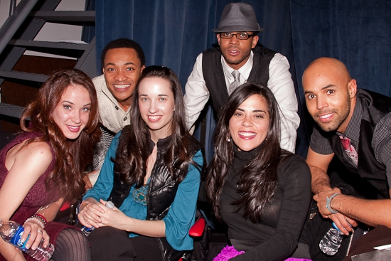 Sierra Boggess, Randy Aaron, Summer Boggess, Derrick Cobey, Katy Basile, and Miles Johnson