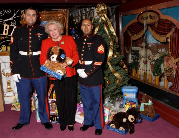 Sgt Trimber and Sgt Hernandez with Magic Castle Co-Founder Irene Larsen