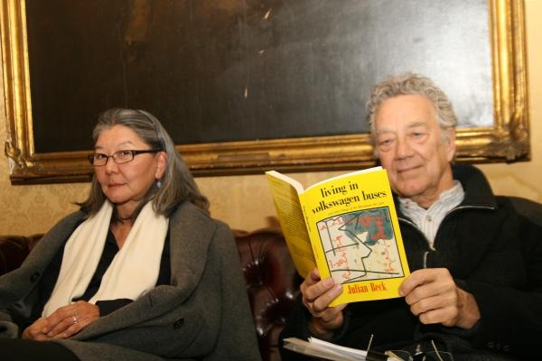 Ray Manzarek & Dorothy Fujikowa at Martin Sheen, Olympia Dukakis & More at The Living Theatre Fundraising Gala