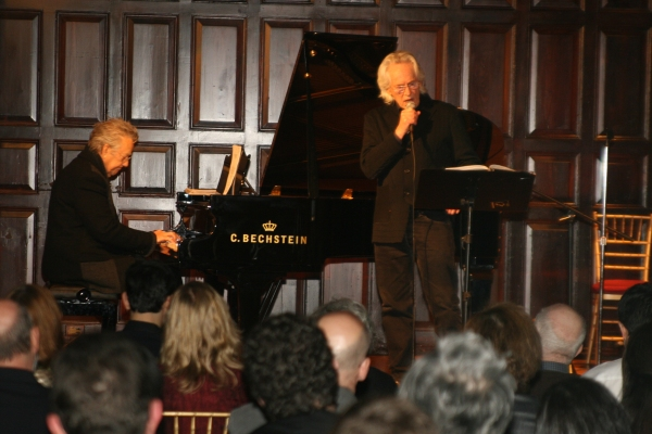 Ray Manzarek & Michael McClure at Martin Sheen, Olympia Dukakis & More at The Living Theatre Fundraising Gala