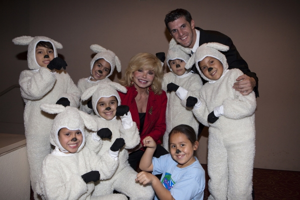 Loni Anderson with Choreographer Billy Rugh and student of Creative Planet School for the Arts