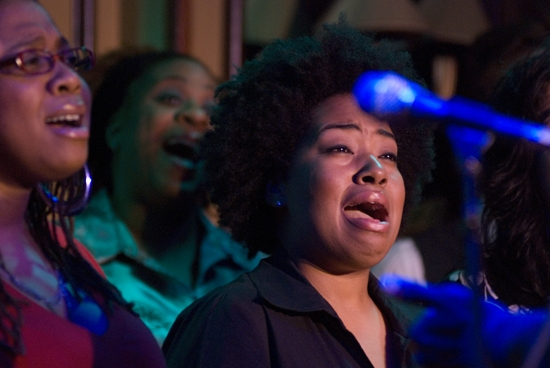 Crystal Monee Hall, Danielle Lee Greaves, and Celisse Henderson at Photos: Mraz & More Sing for True Colors