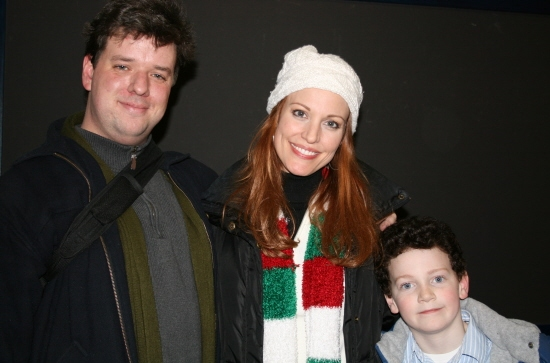 Stephen Libby (Dylan Thomas), Rachel York, and Adam Freeman (Young Dylan)